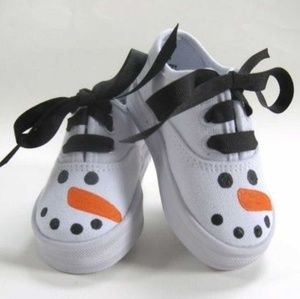 Other - Hand Painted Snow Man Shoes